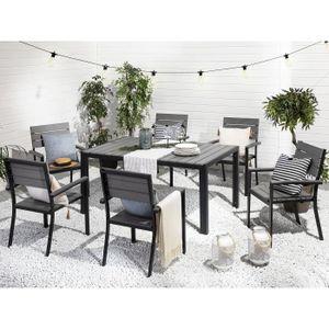 Salon de jardin aluminium Beliani - Achat / Vente Salon de ...