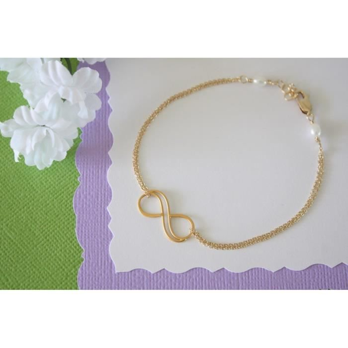 Womens Mother And Daughter Infinity Bracelet Set Gold Filled Infinity Gift Delicate Jewelry XU0OH