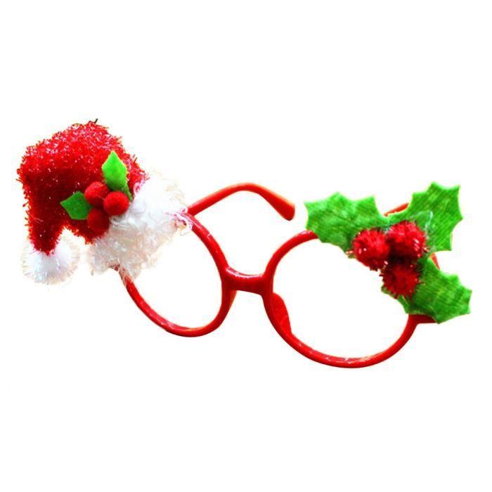 Fête de Noël Dress Up Props Belles lunettes Prenez Props photoNoël HM8290