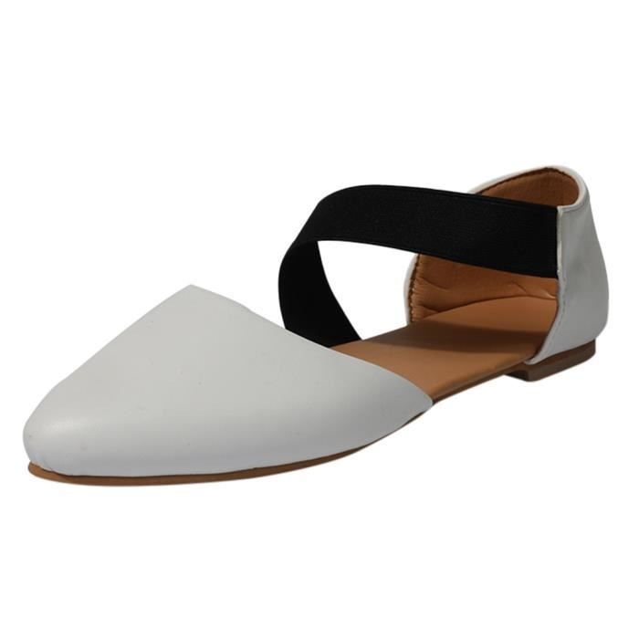Toe Casual Pointu Femmes Simples Mode Plates Chaussures Sandales kX8nw0PNO