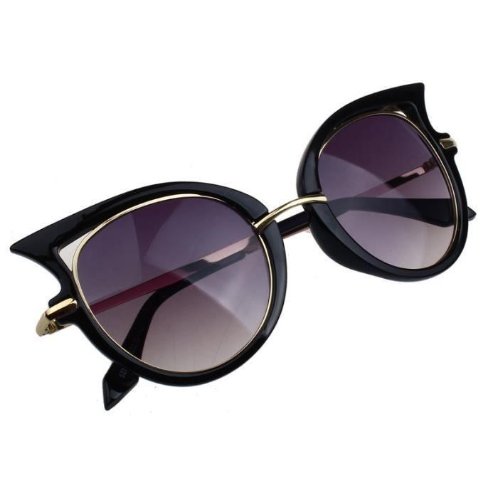 2017 Retro lunettes de soleil femme cadre en métal Golden leg lunettes de vue chat noir