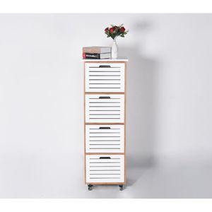 meuble de rangement 4 tiroirs a roulettes achat vente pas cher. Black Bedroom Furniture Sets. Home Design Ideas