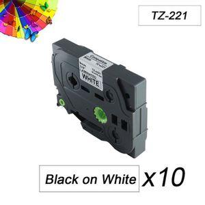 RUBAN - ENCREUR 10 Rubans Cassettes Compatibles Brother - TZe221 -