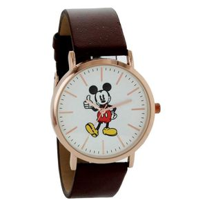 803ea8d9e7 Montre Disney Mickey Mouse - Étui ton or rose et bracelet marron dans une  boîte cadeau Mickey Mouse avec étiquettes mk15 1SBBN7