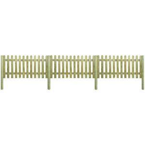 CLÔTURE - GRILLAGE Palissade en bois avec poteaux 6 m de longueur et