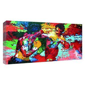 TABLEAU - TOILE 100% Peint à la main Peinture à l'huile Rocky Balb
