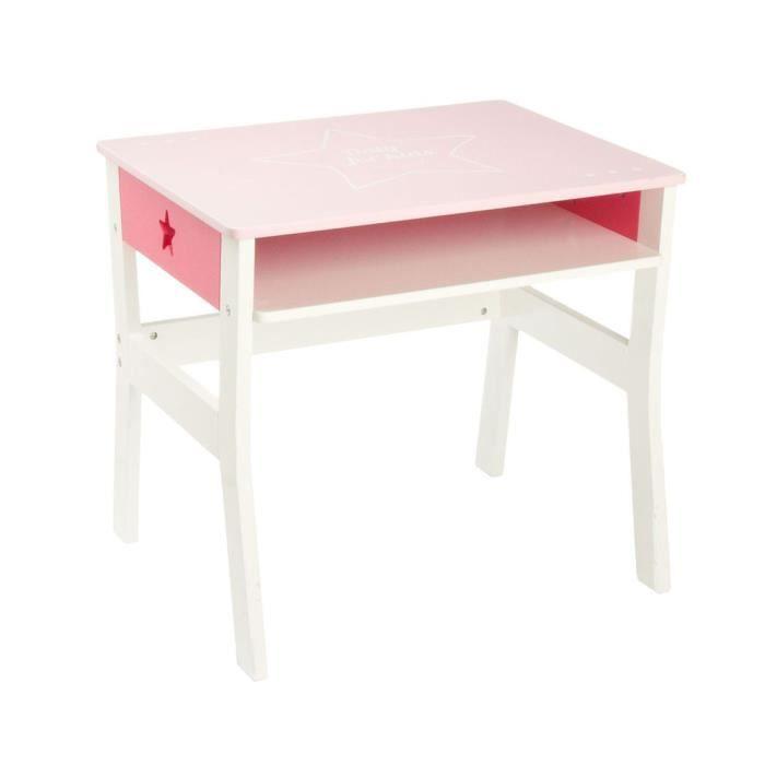 Bureau rose pour enfant en bois Autres Rose Achat Vente bureau