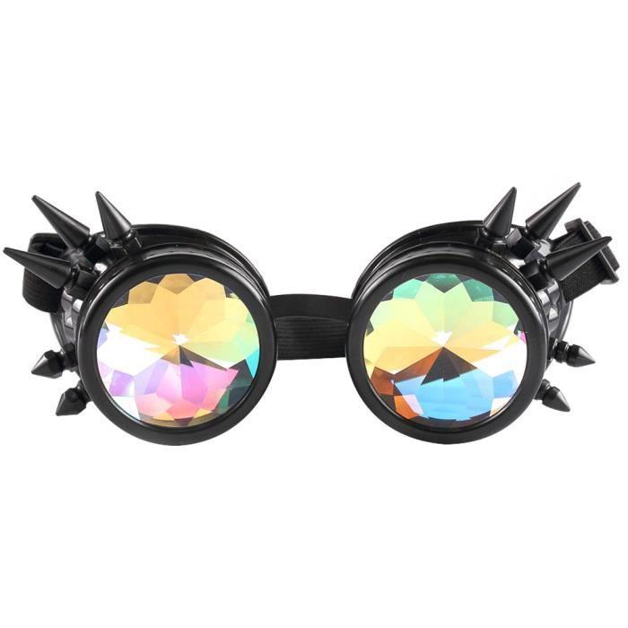 Deuxsuns®Lunettes colorées de Kaléidoscope Rave Festival Party EDM Lunettes  de soleil Diffracted zf397 6492807d6fda
