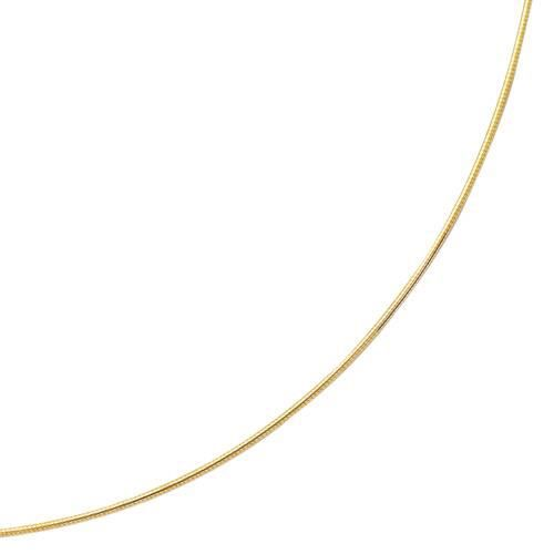 Omega Ronde 14 carats 18 Collier 1,5 mm