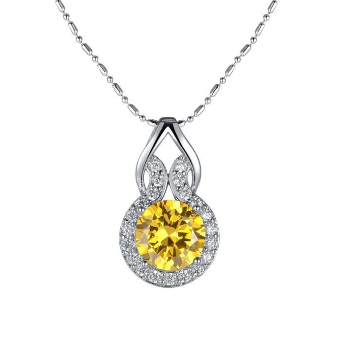 Oven Moda Fête des Mères Cadeau Bijoux Swarovski Éléments Cristal Chaine  Jaune Plaqué Pendentif Goutte pour Femmes d2d44c3d2387