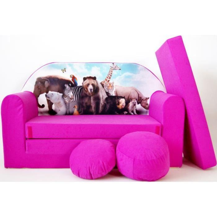 sofa enfant 2 places se transforme en un canap lit h8 achat vente fauteuil canap b b. Black Bedroom Furniture Sets. Home Design Ideas