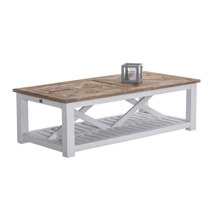 Clp Table Basse De Salon Robuste Pantera 150 X 70 Cm Hauteur 45