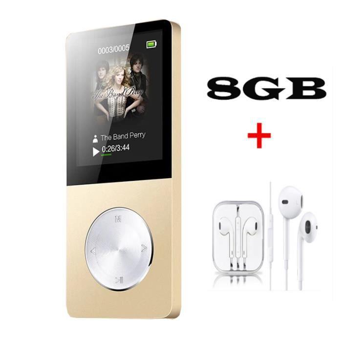 LECTEUR MP3 FULOZO® Lecteur MP3/MP4 8GO Multi-fonction Baladeu