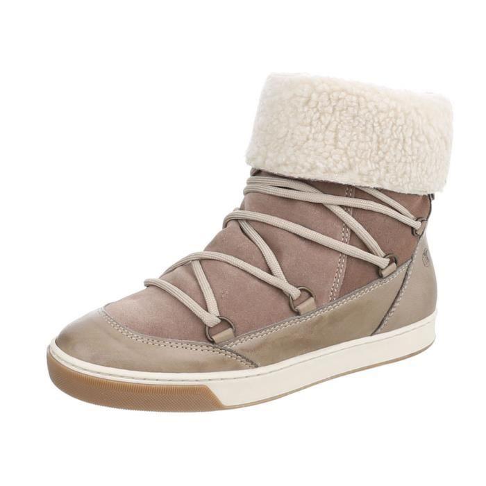 Chaussures femme bottillon bottes Marron clair 41