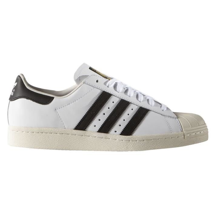 factory authentic 9cd35 f9b76 Adidas 80s Hommes Superstar formateurs en Cuir CQZ89 Taille-40 1-2
