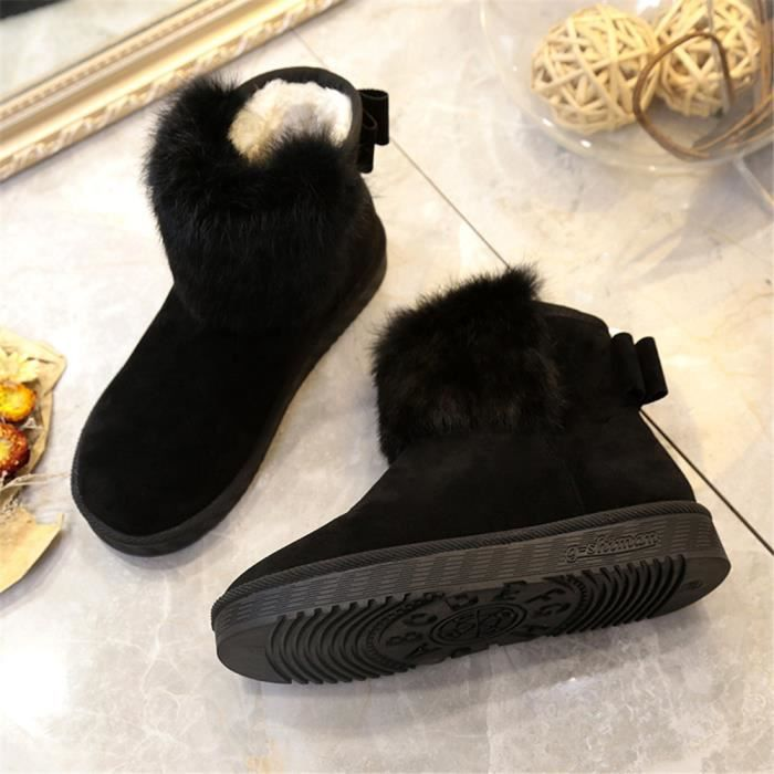 Bottine Femme Nouvelle Mode Qualité SupéRieure Chaussure Couleur Unie LéGer Chaussure Classique Grande Taille 36-40