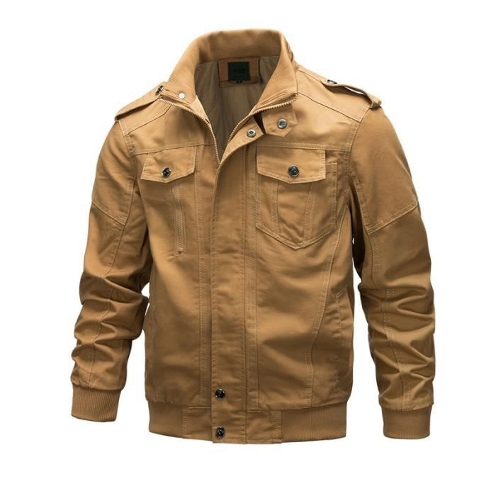 Mode Vrac Vêtement Hommes Veste Homme Taille Blouson Grande En Cargo Masculin Manteau FqW8BZ