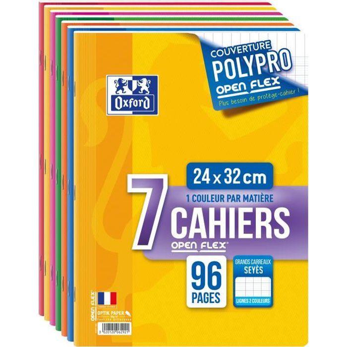CAHIER OXFORD - Lot de 7 cahiers agrafés 96 pages seyès 2