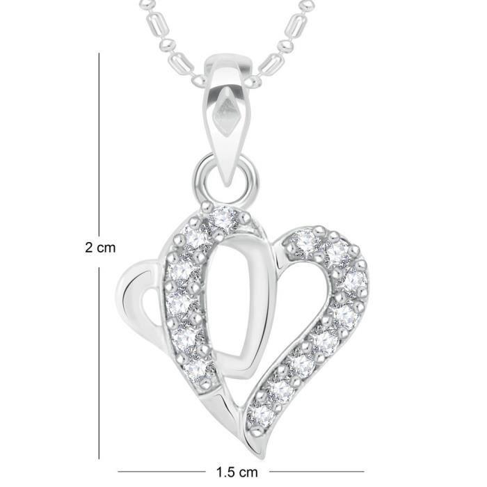 Femmes Vk Bijoux Saint Valentin Coeur Collection de laiton alliage dargent Cz américain Pendentif diamant pour Vkp PSGTT