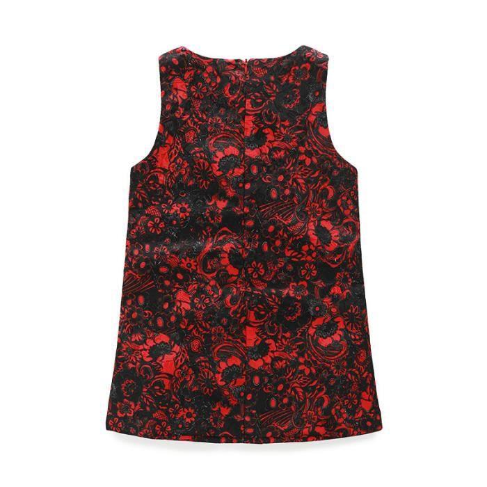 Fille Robe Floral Sans Manches Multicolore Pour Toutes Les Occasions Slim Fit Court Mode Nouveau Loisirs Eté Cool Respirent