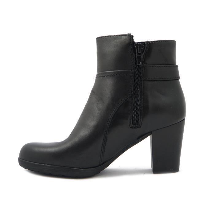 Mercante di Fiori-botte en cuir noir, semelle antidérapante en caoutchouc et talon 7cm., Zip. ZH1607-i16