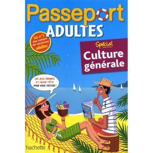 LIVRE JEUX ACTIVITÉS Passeport adultes Spécial culture générale