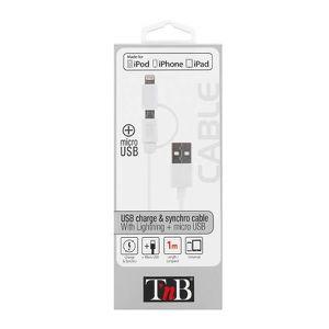 TNB Câble USB de charge Lightning - Blanc