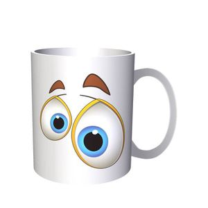 Face Novelty Scared Cl Funny A199 Art Cartoon Vintage 33 Tasse 34Aq5jLcSR