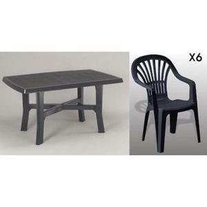 Table et chaises de jardin plastique - Achat / Vente pas cher ...