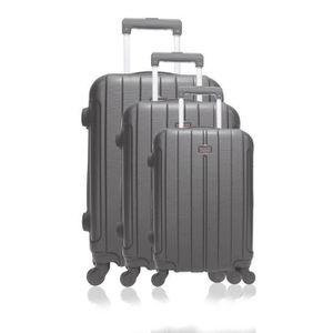 SET DE VALISES Set de 3 valises ABS - Coques rigides - 4 roues 55