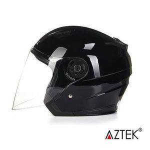 f22d55e1d66 CASQUE MOTO SCOOTER AZTEK® Casque moto scooter modulable 56cm-58cm Noi ...