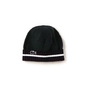 Bonnet Lacoste RB9421 en piqué noir et vert. - Achat   Vente bonnet ... 851aa235288
