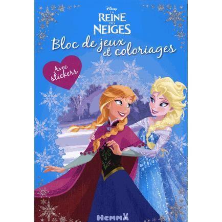 Bloc De Jeux Et Coloriages La Reine Des Neiges Achat Vente Livre