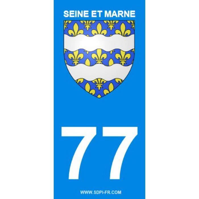 STICKZIF 2 Autocollants Région Département 77 Version 2 SR77-1