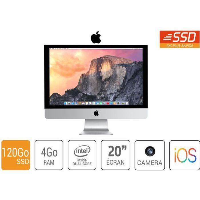 ORDINATEUR TOUT-EN-UN imac apple a1224 20 pouce core 2 duo4go ram 120