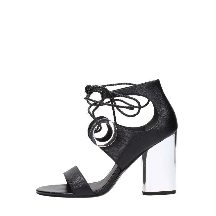 What For Sandal Femme Noir