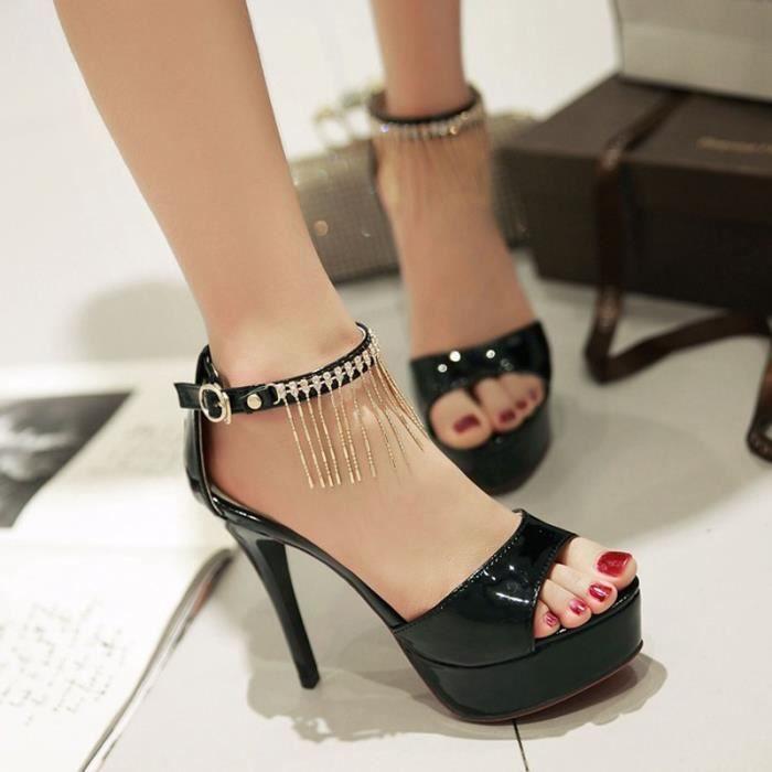 Femmes Fashion Party avec boucle cheville sandales à talons hauts HprOAaO