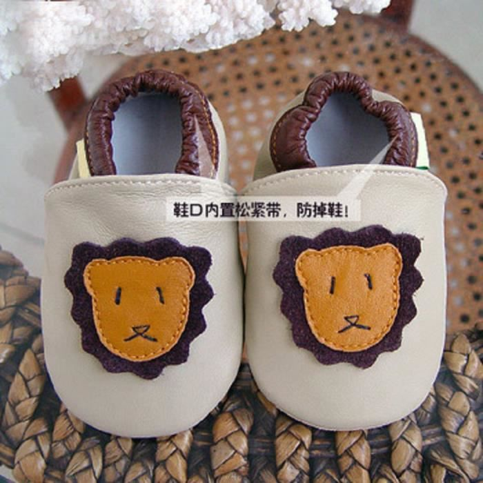 LICH Automne modèles cuir intérieur Mignon petit animal doux antidérapant poussettes bébé chaussures GZCnb