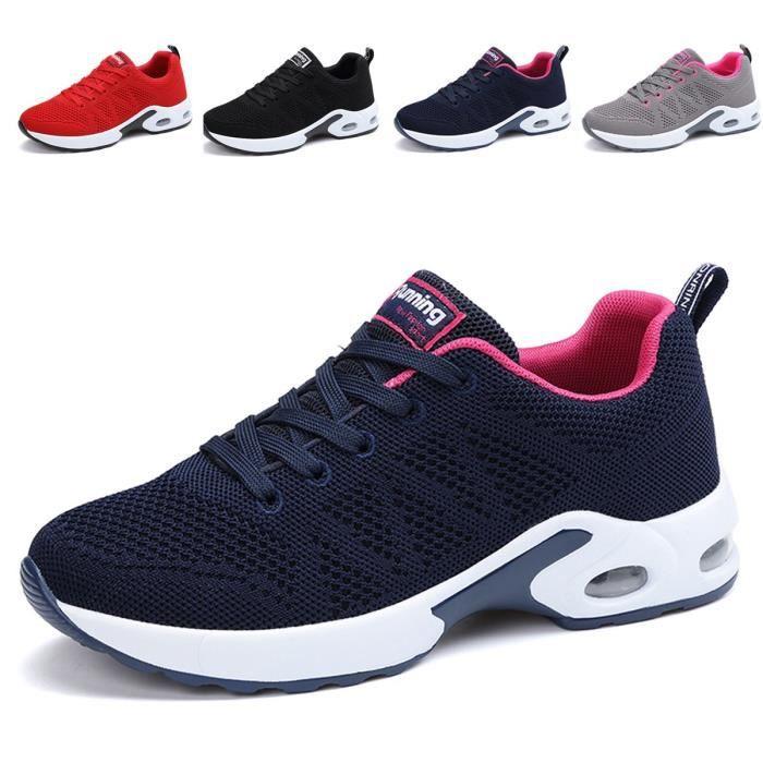 00a7ea93ce2 Mode respirante Chaussures de marche légères Chaussures de course Athletic  Tennis Us5.5-10 XAN3V Taille-36 1-2