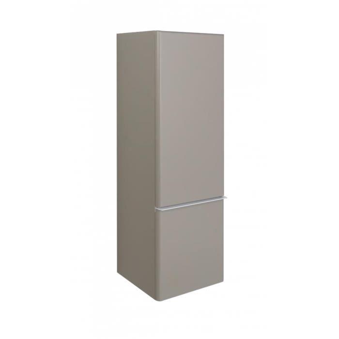 COLONNE - ARMOIRE SDB Demi colonne de salle de bain H115 Taupe JULIA