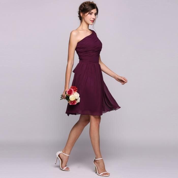 robe de demoiselle d'honneur robe de soirée Femmes des volants en mousseline de soie