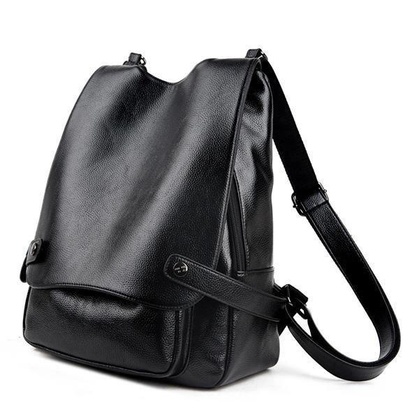 SBBKO4119Ekphero Multifunction PU Leather Femmes Handbags Vintage Sacs bandoulière Travel BackpackRed