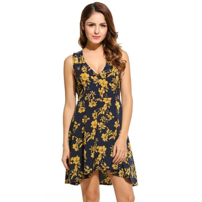 robe sexy Femme floral décontracté sans manches
