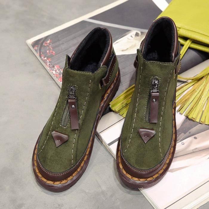 Martin Vent Soled Bottes Boot 7707 Femmes Plat Colorblock Chelsea Brock Britannique Paisse qYrwqzAU