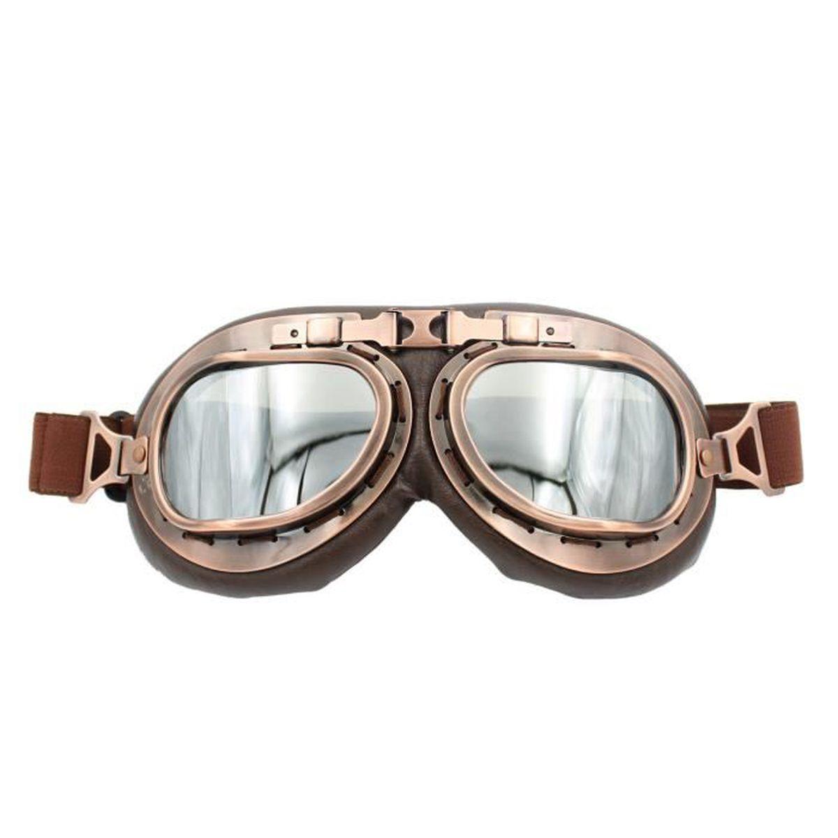 Lunette Moto aviateur vintage Argent Len - Achat   Vente lunettes ... 2905a9a03986