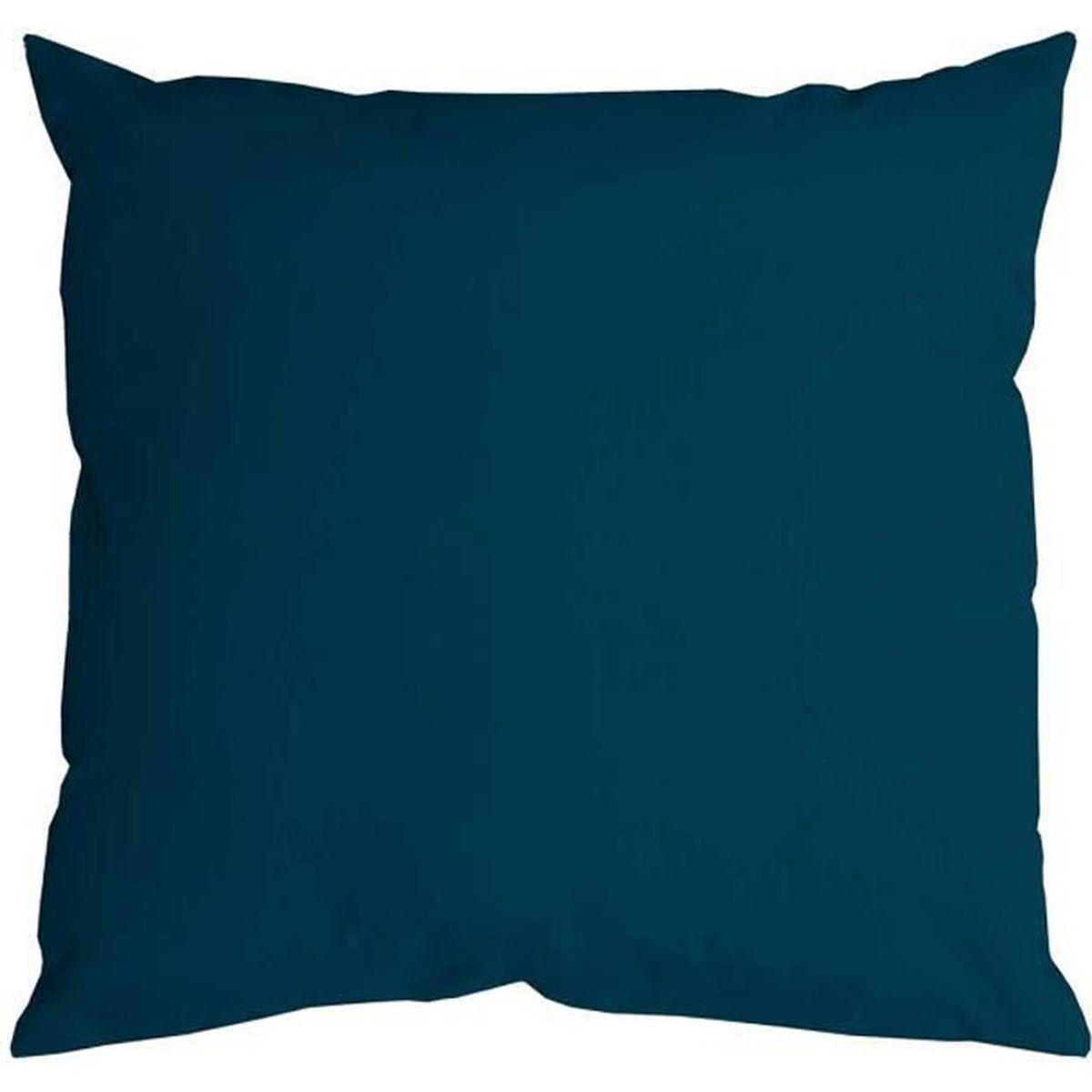 coussin uni nelson 40 x 40 cm bleu canard achat vente coussin soldes d s le 10 janvier. Black Bedroom Furniture Sets. Home Design Ideas