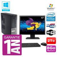 UNITÉ CENTRALE + ÉCRAN PC Dell 790 DT Intel G630 8Go Disque 2To Graveur W