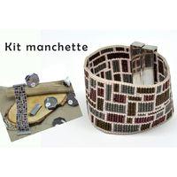 Perles Kit bracelet manchette perle Miyuki 11/0 tissé Géo