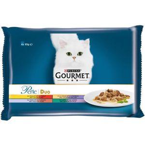 GOURMET PERLE Duo viande - Pour chat - 4x85g