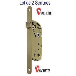 SERRURE - BARILLET VACHETTE,2 Serrures Réversible à Larder Porte Cham